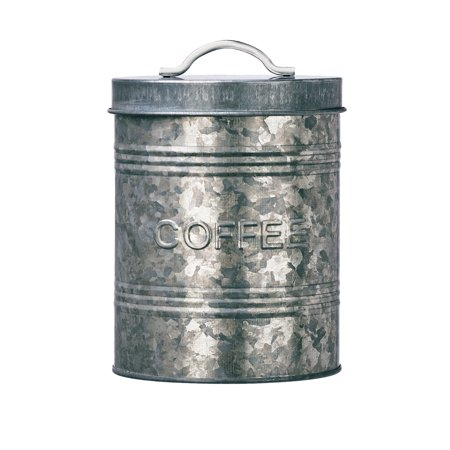 Rustic Kitchen Galvanized Metal Coffee Storage Canister, 76