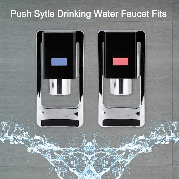2pcs Red Blue Water Faucet Plastic Water Cooler Faucet Push Type Handle Fit Drink Water Dispenser Tap Spigot Replacement Walmart Com Walmart Com