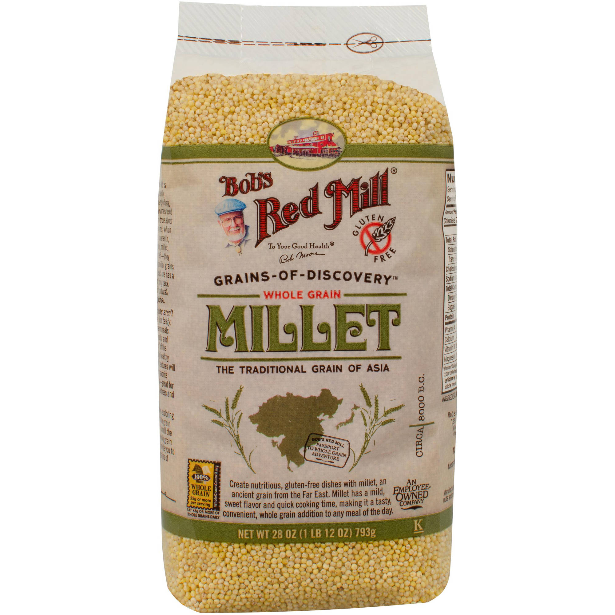 Bob's Red Mill Whole Grain Hulled Millet, 28 oz (Pack of 4)