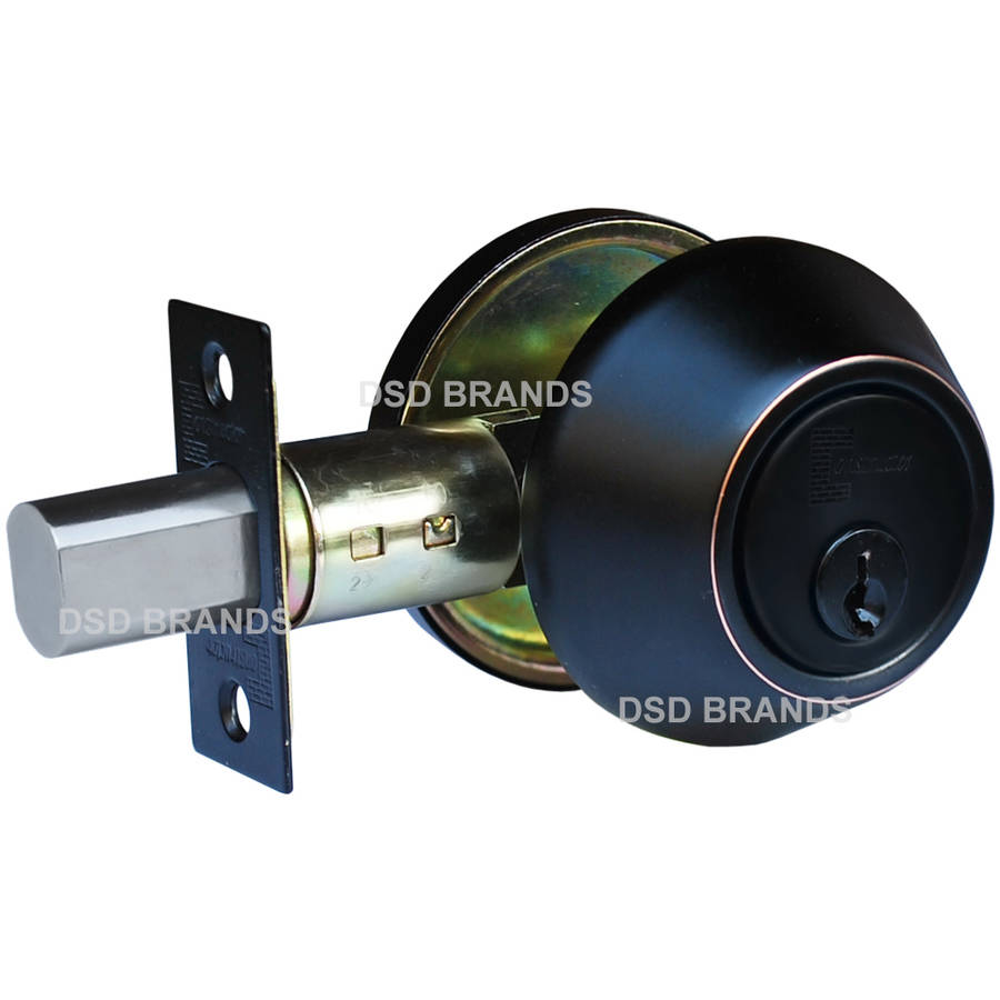 Constructor Deadbolt Entry Door Lock Set with Single Cylinder Oil Rubbed Bronze Finish