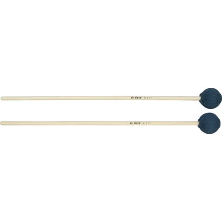 Virtuoso Series Keyboard -- Medium Soft, 1 inch yellow rubber, soft, mallet for marimba, rattan handle By Vic Firth Ship from