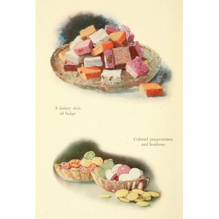Dainty & Artistic Desserts 1915 Fudge Peppermints & Bonbons Stretched Canvas -  (18 x 24)