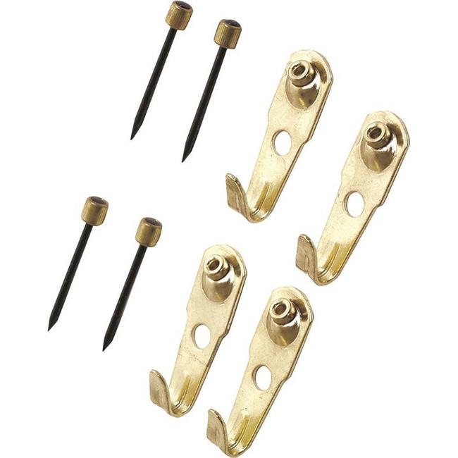 Pushpin PICture Hanger, Brass - 30 lbs