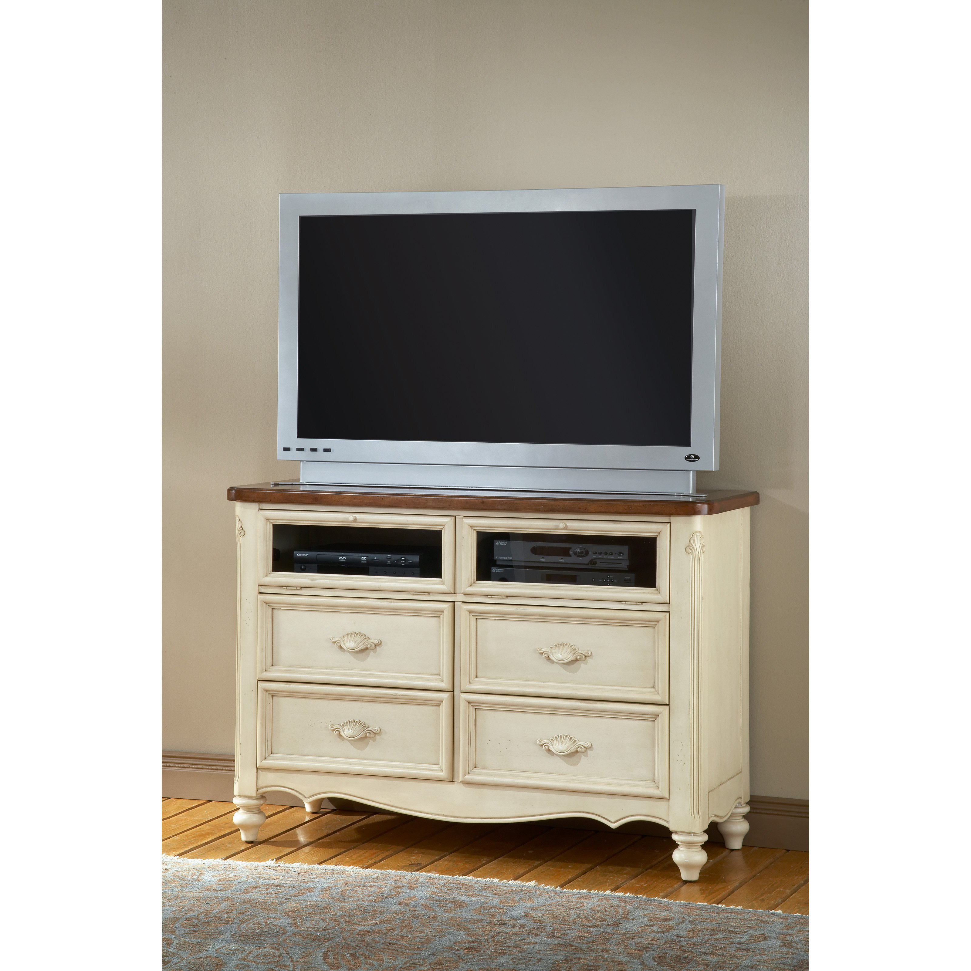 American Woodcrafters Chateau 4 Drawer Media Chest