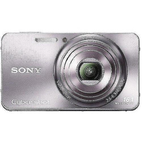 "Sony Cyber-shot DSC-W570 16MP Compact Camera, Silver w/ 5x Optical Zoom, 720p Movie, 2.7"" LCD"