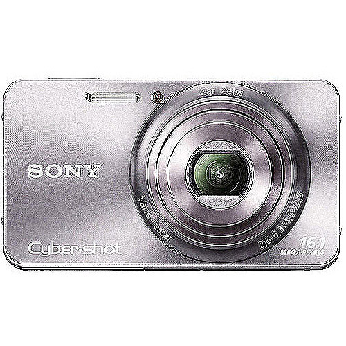 "Sony Cyber-shot DSC-W570 16MP Compact Camera, Silver w/ 5x Optical Zoom, 720p Movie, 2.7"" LCD"
