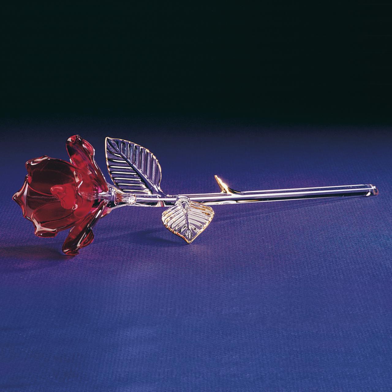 Red Rose Glass Figurine Floral Garden Nautical Keepsake Glas Baron Love For Women