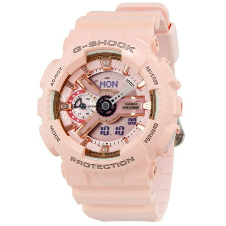 G-Shock Pink Analog Digital Ladies Watch GMAS110MP-4A1 (Baby G Shock Watches Women Red)