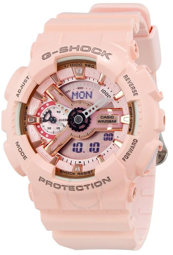 G-Shock Pink Analog Digital Ladies Watch GMAS110MP-4A1