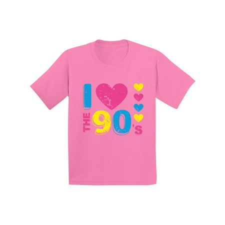 Awkward Styles I Love the 90's Youth Shirt 90s Accessories 90s Costumes for Kids I Love the 90s Disco T shirt for Boys Disco T shirt for Girls Love for 90s Nineties Party Kids Shirts