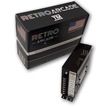 16A Arcade Switching Power Supply - 133 Watt, 110-220V for video game cabinets upright and cocktail (Watts Switching)