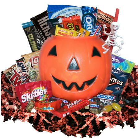 Yummy Halloween Gift Basket - Halloween Gift Baskets Diy
