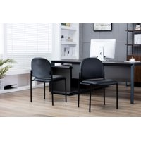 Porthos Home Stackable Office Chair With PVC Upholstery And Metal Frame (Various Colors)
