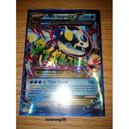 Pokemon - Primal Kyogre-EX (55/160) - XY Primal Clash - Holo, From USA,Brand SONGMICS (Kyogre Ex)