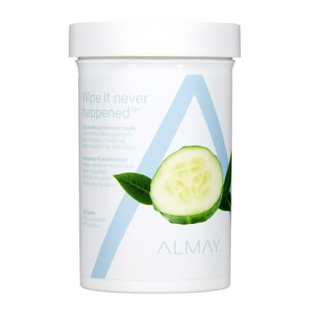 Almay longwear & waterproof eye makeup remover pads, 120