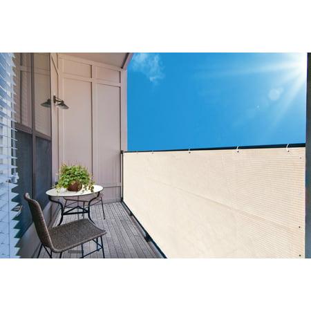 Alion Home Banha Beige Elegant Privacy Screen For Backyard Deck, Patio, Balcony, Fence, Pool, Porch, Railing. 3' x 6' ()