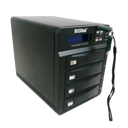 - Buslink 56TB CipherShield 4-Bay RAID USB 3.0/eSATA FIPS 140-2 HIPAA 256-bit AES Hardware Encrypted External Desktop Hard Drive