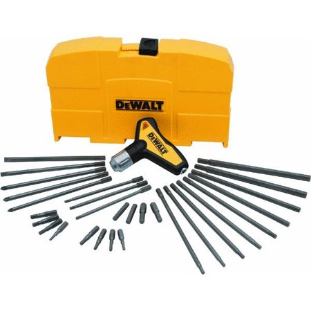 Dewalt Ratcheting T-Handle Hex Key Set, 31 Pc - 287110