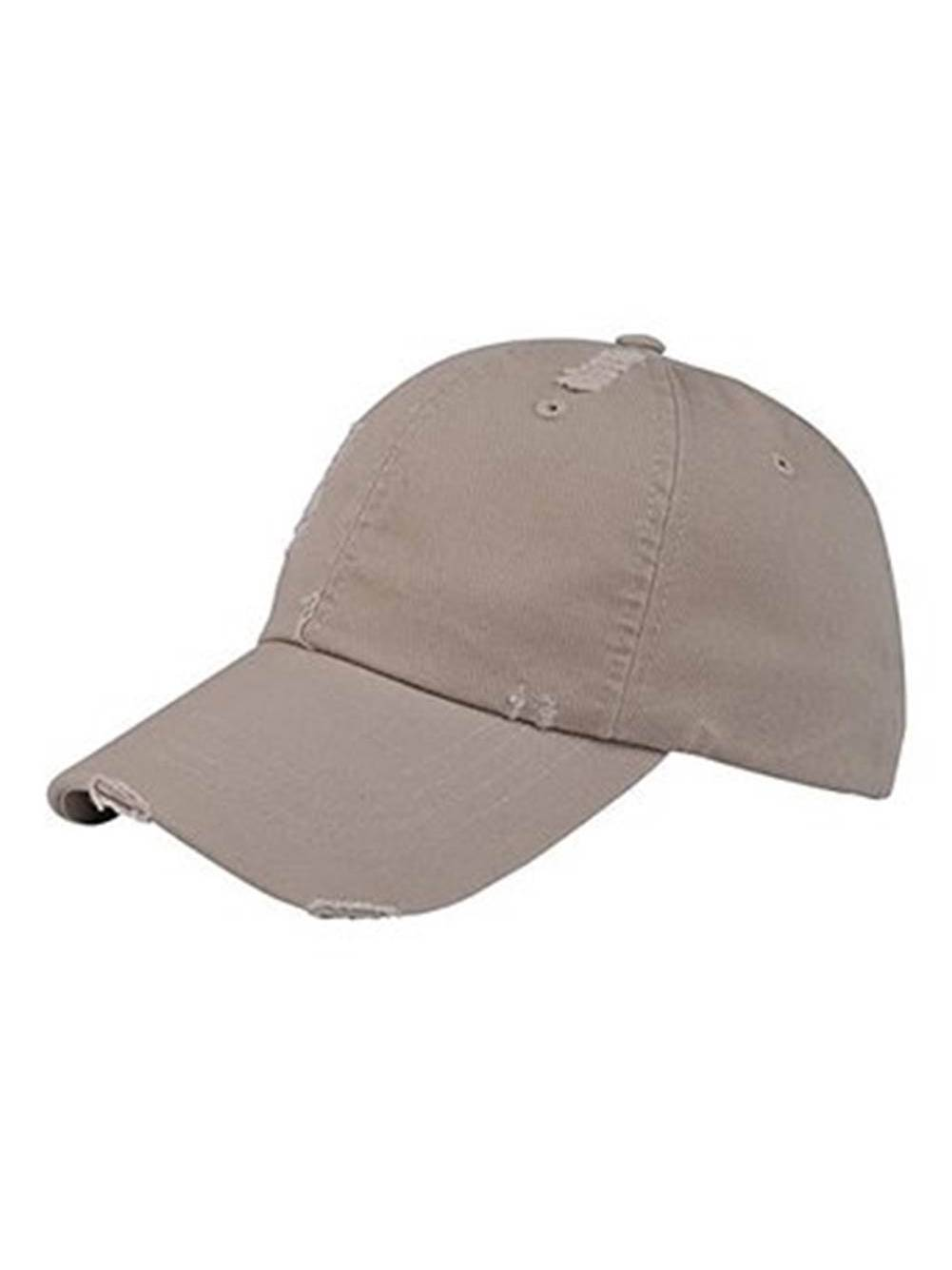 WASHED TWILL DISTRESSED CAP LOW PROFILE UNSTRUCTRED