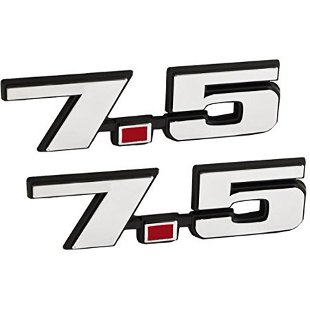 Big Engine (7.5 Liter 460 Truck & Big Block Engine Emblems in Chrome & Red - 4.75