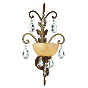Fredrick Ramond Lighting FR44110FRM Barcelona Wall Sconce, French Marble