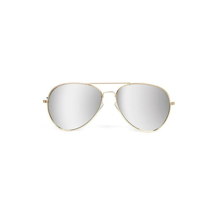 Gravity Shades Classic Gold Full Mirror Lens Aviator (Shades Means Sunglasses)