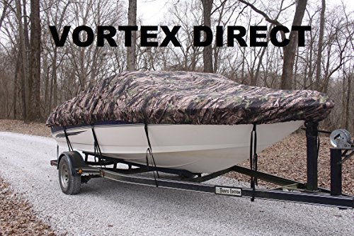 VORTEX HEAVY DUTYCAMO   CAMOUFLAGE VHULL FISH SKI RUNABOUT COVER FOR 20' to 21' to 22' ft foot BOAT (FAST SHIPPING 1 TO... by Vortex
