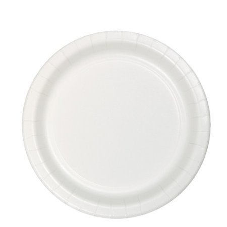 White Party Supplies 6.75 inch Paper Luncheon Plates (24 ct) Baby Shower Paper Luncheon Plates