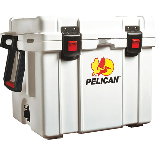 "Pelican 32-45Q-MC-WHT ProGear Elite Marine Deluxe Cooler with 2"" Insulation, 45qt."