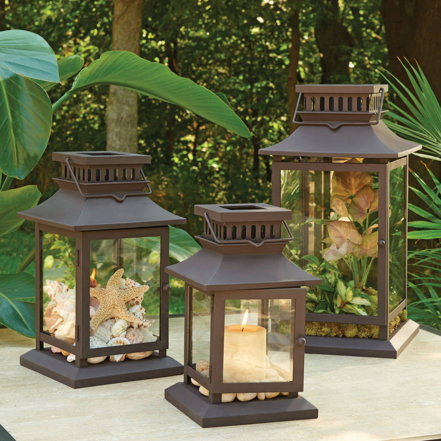 Better Homes Gardens Square Metal Outdoor Lantern Walmart Com Walmart Com