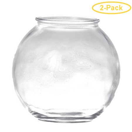 Anchor Hocking Rounded Fish Bowl 1/2 Gallon - Pack of 2