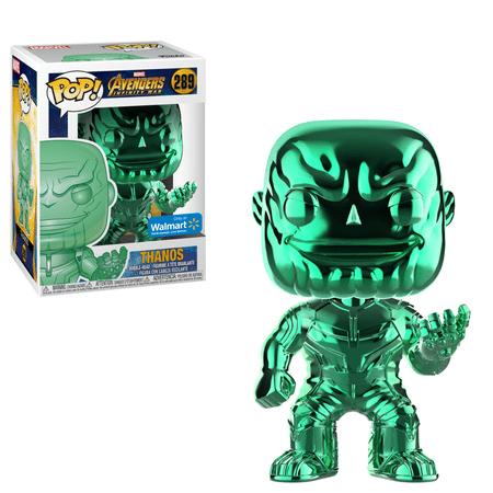 Funko POP Marvel: Infinity War - Thanos - Green Chrome - Walmart Exclusive (Thanos Daughter)