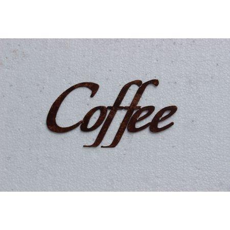 Coffee Word Kitchen/Home Decor Metal Wall Art