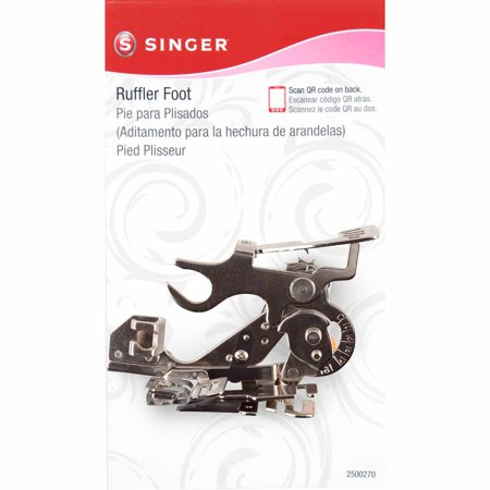 Singer Ruffler Attachment Presser Foot for Low-Shank Sewing