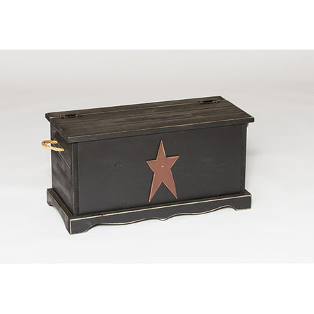 Furniture Barn USA™ Primitive Pine Storage Chest with Rustic Star