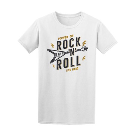 Power Of Rock And Roll Live Hard Tee Men's -Image by
