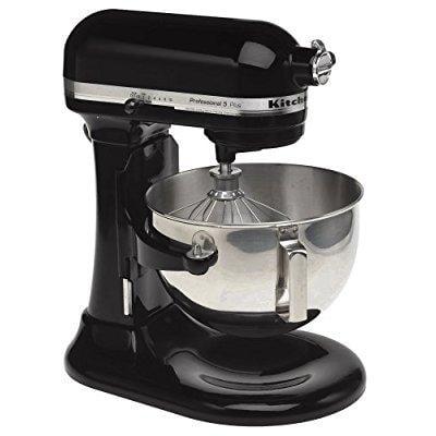 kitchenaid rkv25goxob professional 5 plus 5-quart stand mixer, onyx black (certified