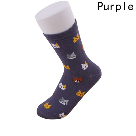 AkoaDa Fashion Female Short Kitten Colorful Tube Art Casual Cotton 1 Pairs Cute Cat Socks Winter For Woman Girl Hot