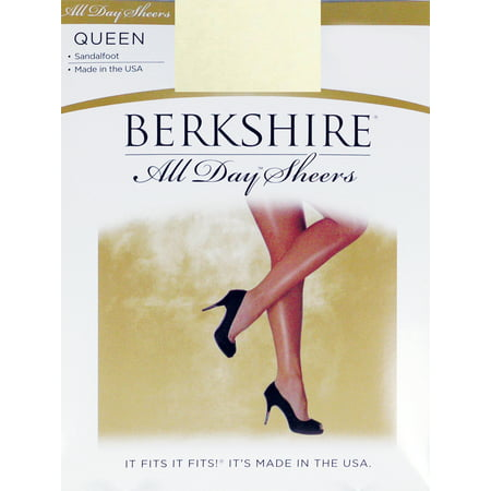 Plus Pantyhose (Berkshire Women's Plus-Size Queen All Day Sheer Non-Control Top Pantyhose - Sandalfoot, Ivory, 3X-4X)
