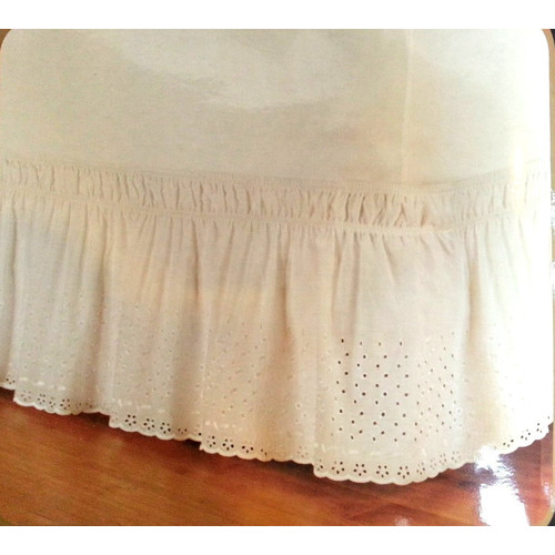 Dainty Home Eyelet Wrap Around Bed Skirt