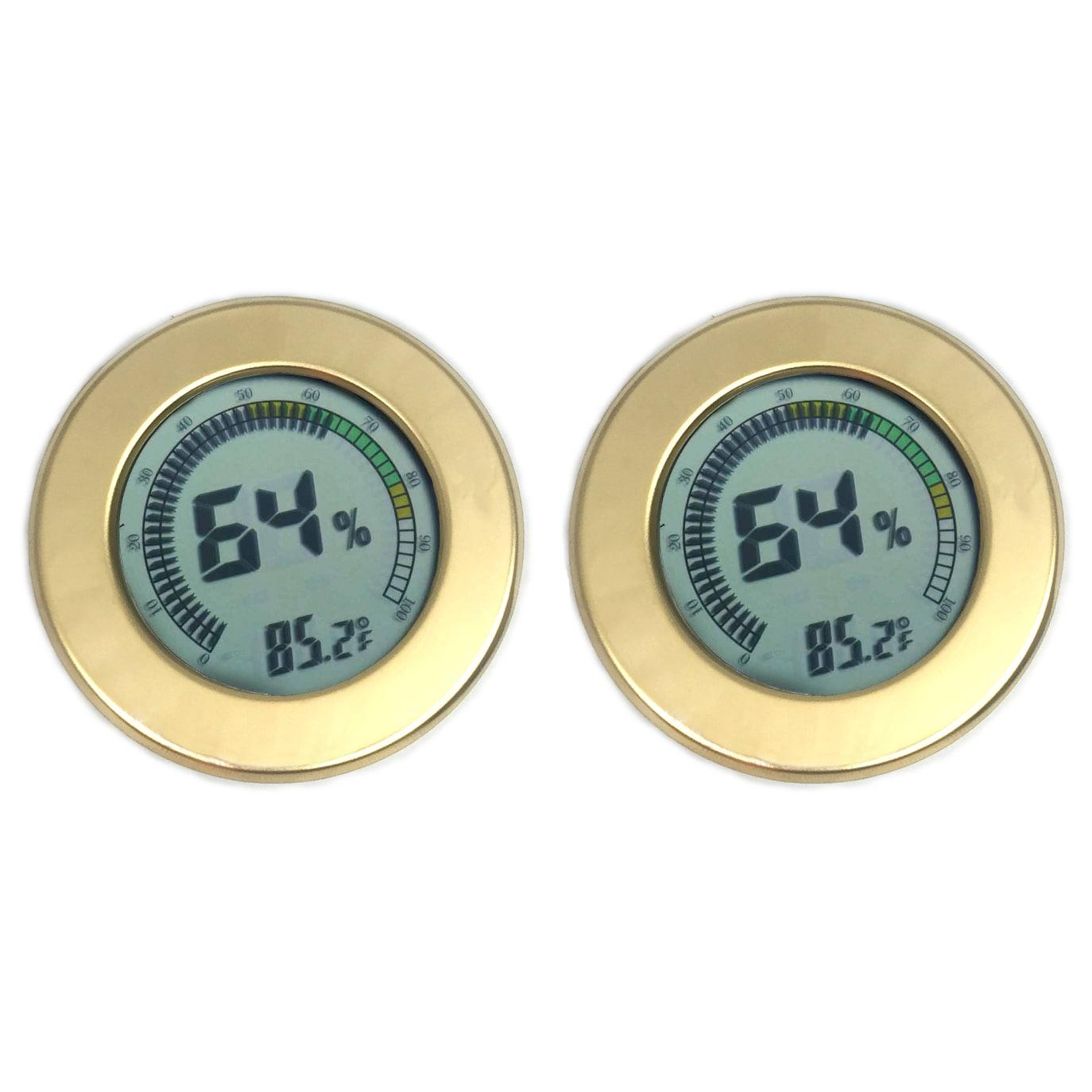Visol  Modern Circular Digital Hygrometer - Pack of Two