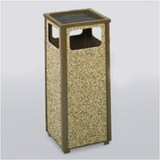 Rubbermaid Commercial Products 12-Gal Aspen Sand Top Ash/Trash Receptacle (Set of 2)