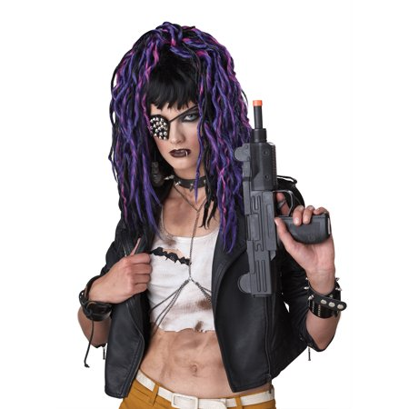 Apocalypse Purple Steampunk Dreadlocks Womens Halloween Costume Accessory Wig - Steampunk Wigs