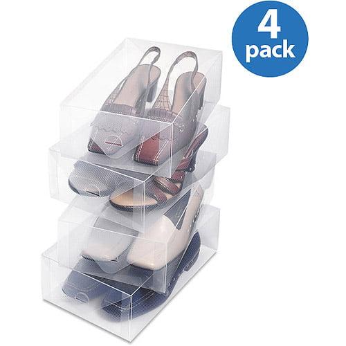 Whitmor Clear-Vue Women's Shoe Box, Set of 4