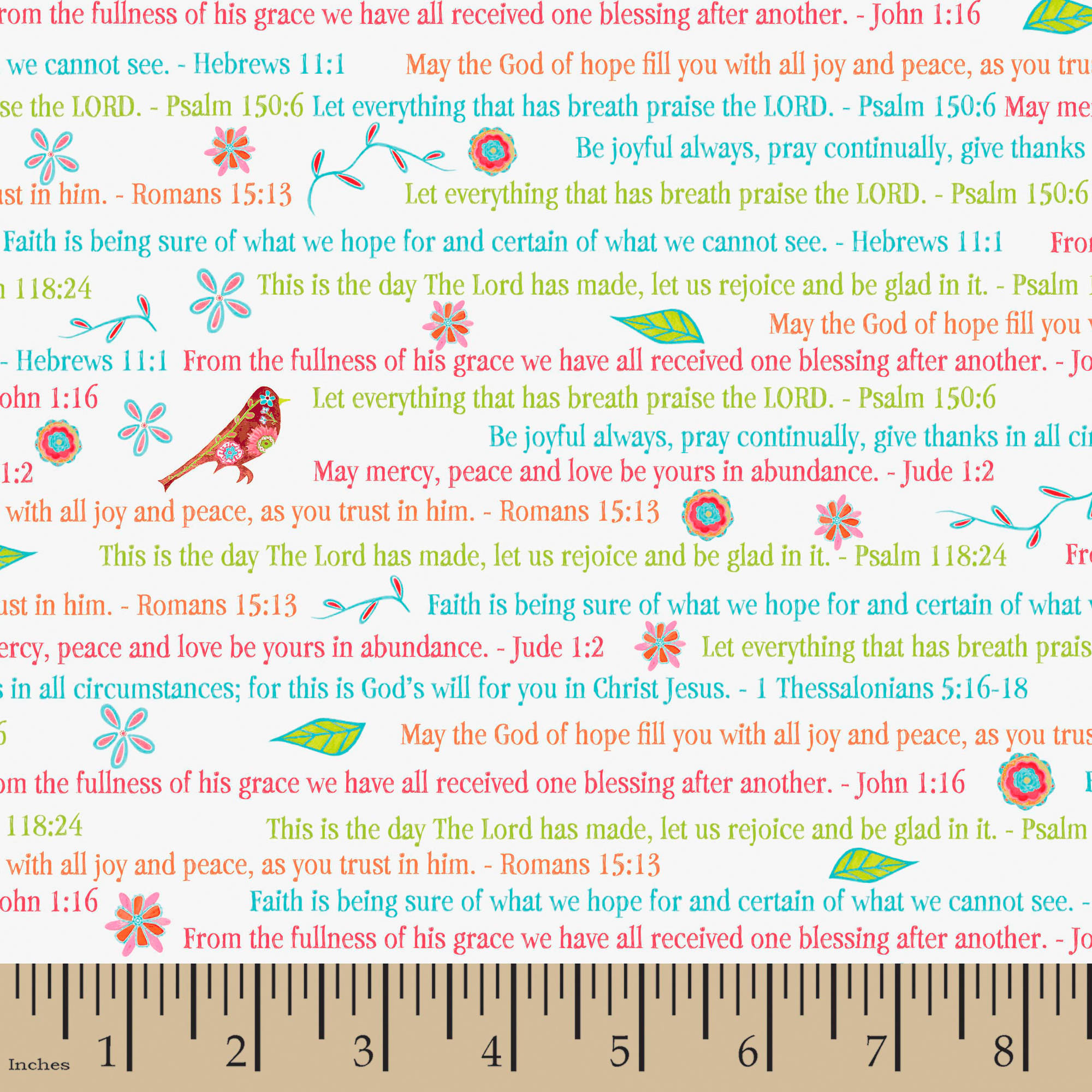 Faith Faithful Words, Multi-colored