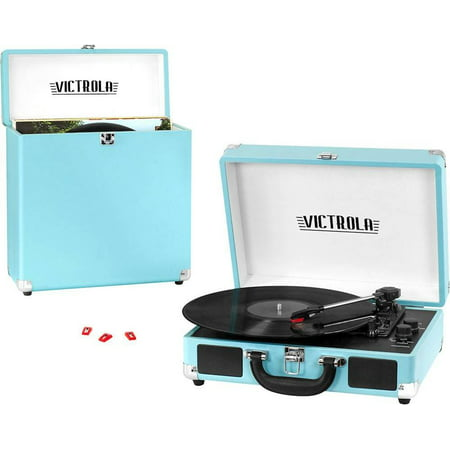 Refurbished Victrola VSC-25 Bluetooth Stereo Turntable - Turquoise