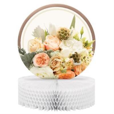Rose Gold Bouquet Honeycomb Centerpiece, 2PK