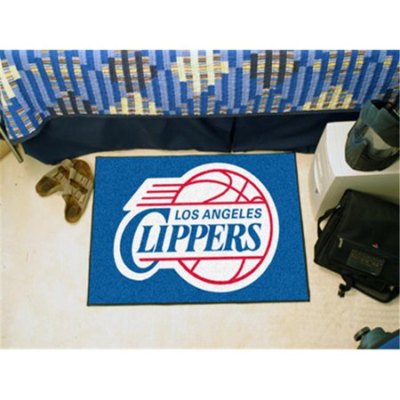 Fanmats 11910 NBA Los Angeles Clippers Starter Rug 19'' x 30'' by