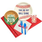 baseball party deluxe kit  serves 8 guests - party supplies