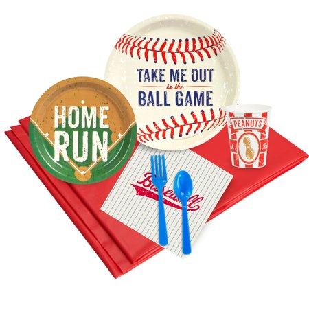 Baseball Party Deluxe Kit  Serves 8 Guests - Party Supplies (Baseball Supplies)